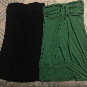 Tops - 2 banded M tube tops.
